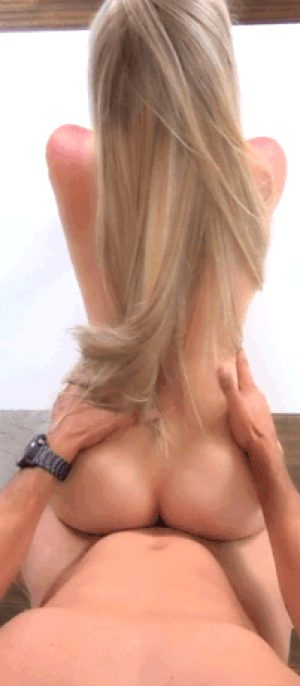 doggy with blonde