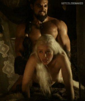 Emilia Clarke fucked from behind