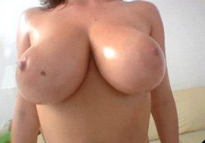 Huge natural tit busty brunette shaking her wonderful milky boobs