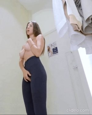 Touching herself in fitting room