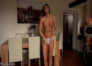 wetting pink panties